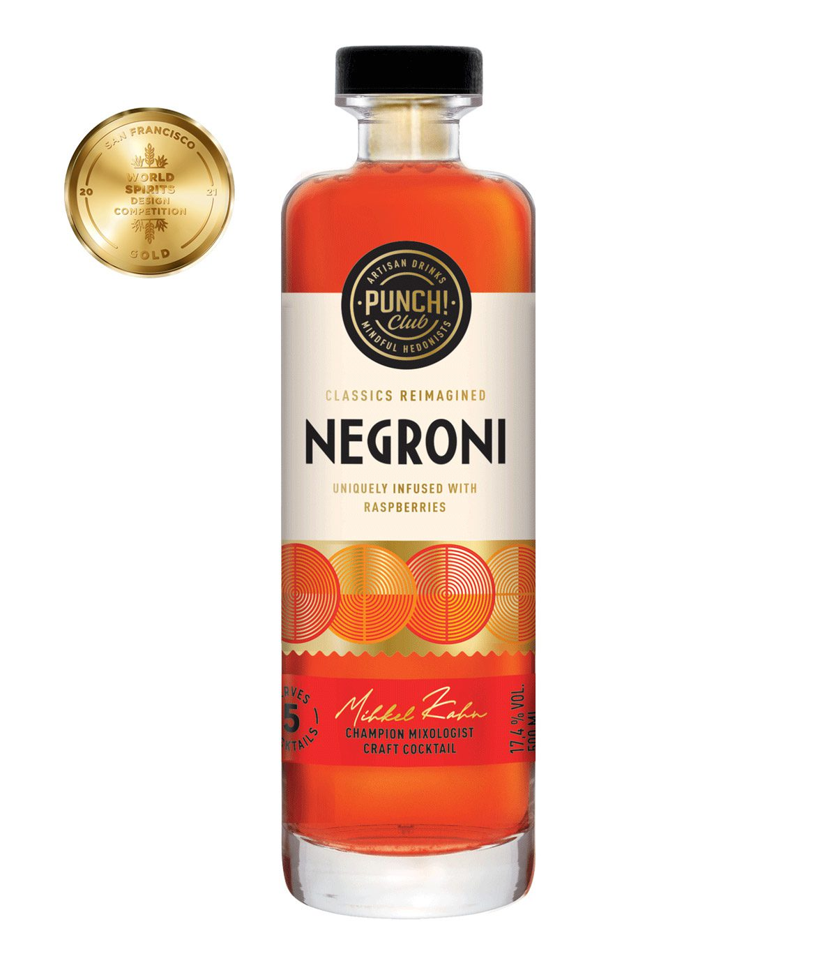 Classics Reimagined: Negroni. Award winning gin cocktail by Punch Club®